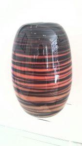 African inspired glass vase